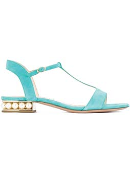 18mm Casati Pearl T-Bar Sandals by Nicholas Kirkwood $880