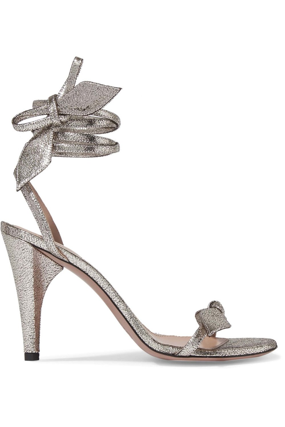 Mike Metallic Cracked-Leather Sandals by Chloé US$795