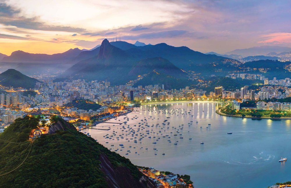 Sunset above the beaches and city of Rio. Anna Gibiskys / Shutterstock.com