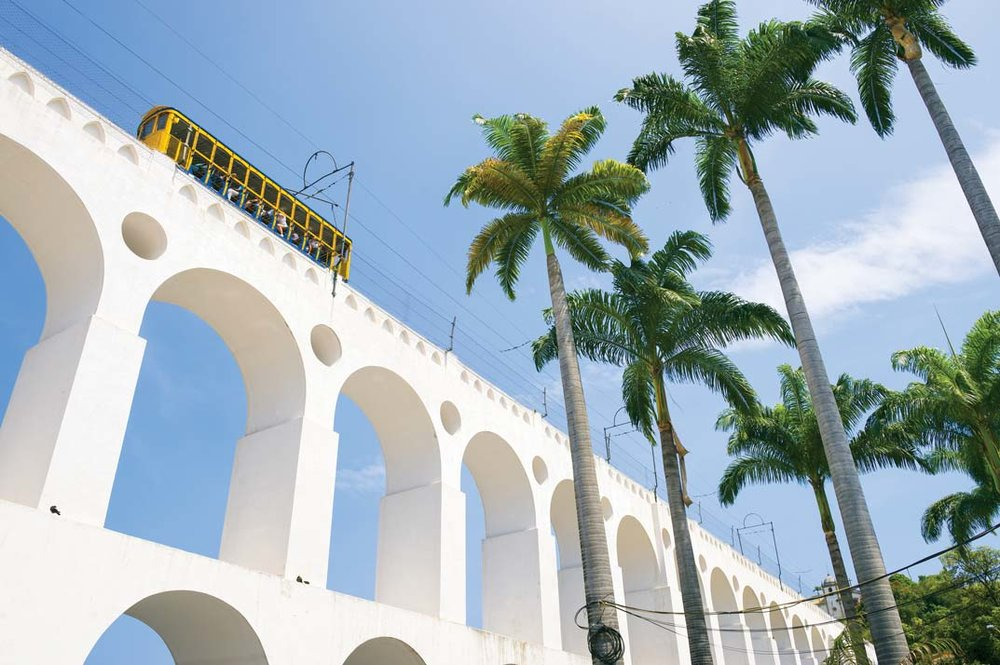 Once an aqueduct, the Lapa Arches today function as a tramway. lazyllama / Shutterstock.com