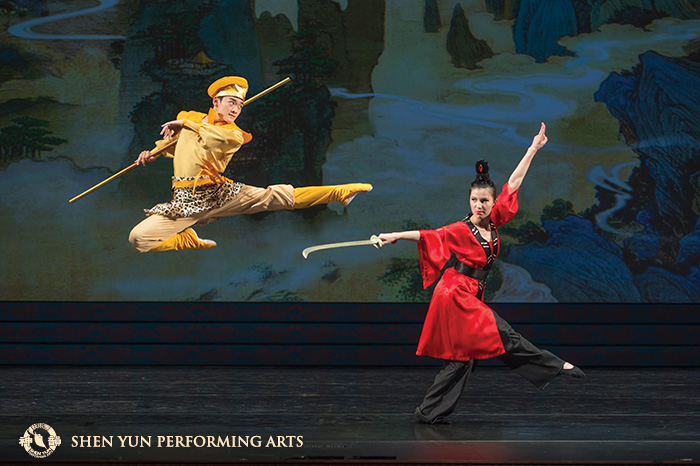 Li's portrayal of one of his favourite characters, the Monkey King.© Shen Yun Performing Arts