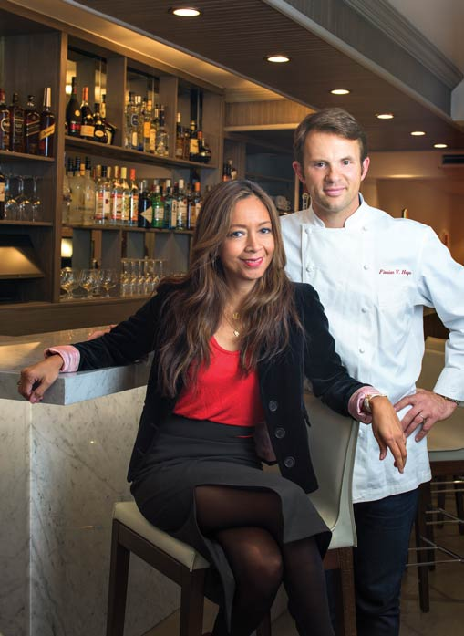 """A dynamic duo, Chef Hugo and his wife, Michelle. """"I'm more of the artist and the operational person, and she is more of the business mind, people person. So we complement each other very well that way,"""" he says."""