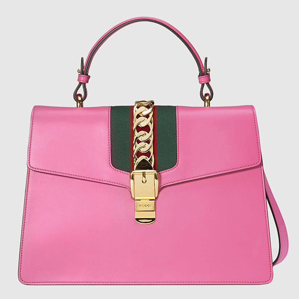 Sylvie Leather Top Handle Bag by Gucci
