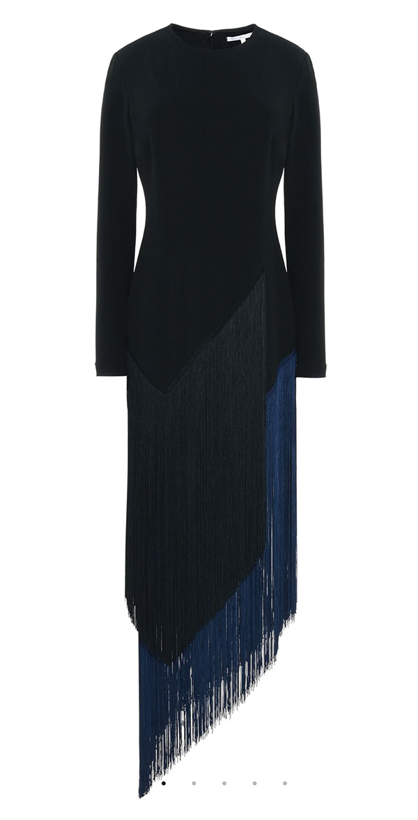 Camille Black Fringe Dress by Stella McCartney