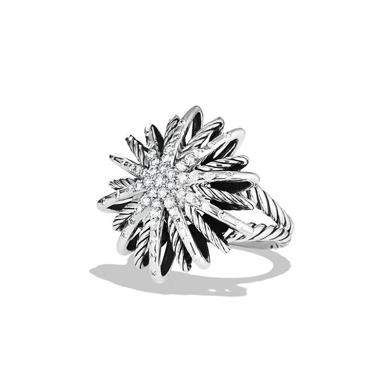 Starburst Ring with Diamonds by David Yurman
