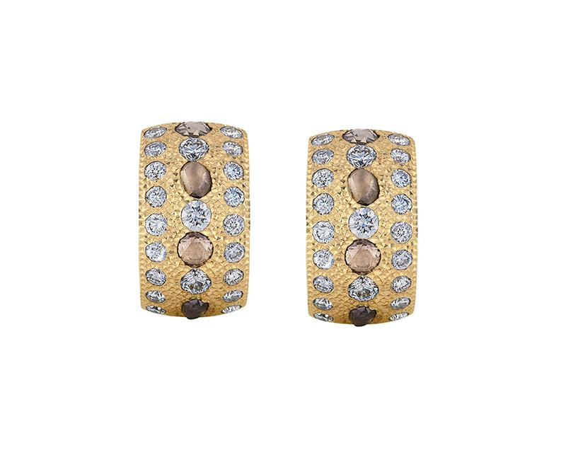 Talisman Yellow Gold Hoop Earrings by De Beers