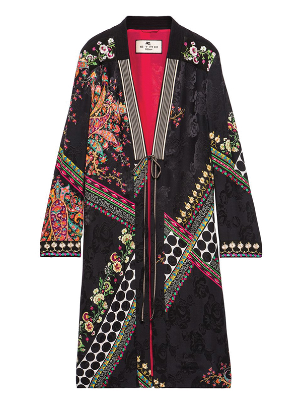 Floral and Polka Dots Jacquard Topper by Etro