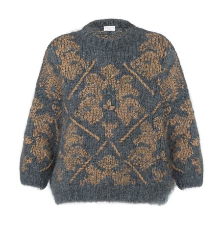Cashmere Handmade Embroidery Sweater by Brunello Cucinelli
