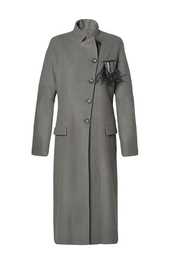 Water-Repellent Lightweight Cashmere Coat by Brunello Cucinelli