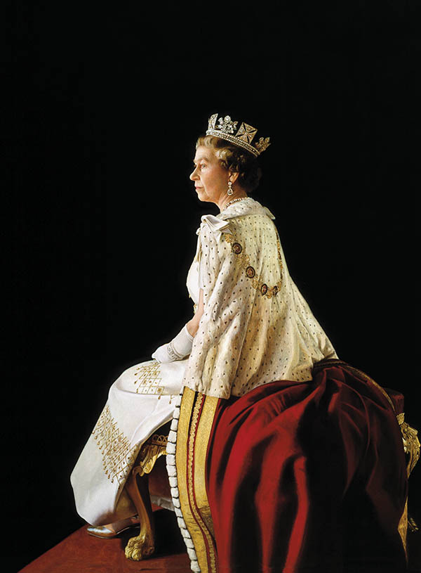 Stone's exquisite portrait capturing the nobility of Her Majesty, Queen Elizabeth II.Copyright Richard Stone