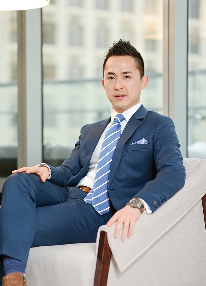 The ambitious young developer Joo Kim Tiah sits inside his first development, the almost $370-million Trump Tower. Photo by Hugh Zhao