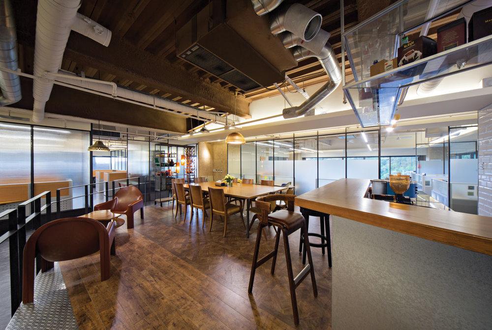 Shen designed the interior of his company in Taipei.