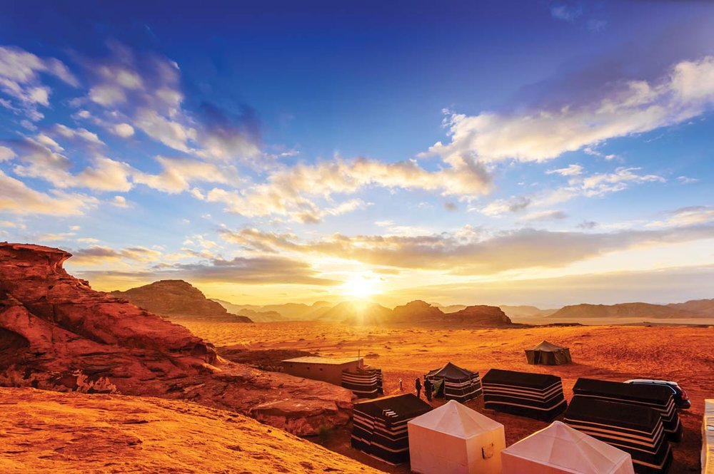 The majestic Wadi Rum desert of Jordan is so other-worldly, it's often called The Valley of the Moon.Richard Yoshida / Shutterstock.com