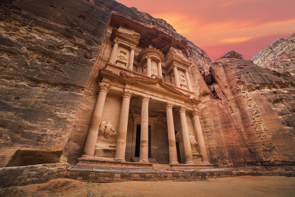 The Hellenistic style of the Treasury at Petra reflects the influence of Alexandria, the greatest city of the time.  Kanuman / Shutterstock.com