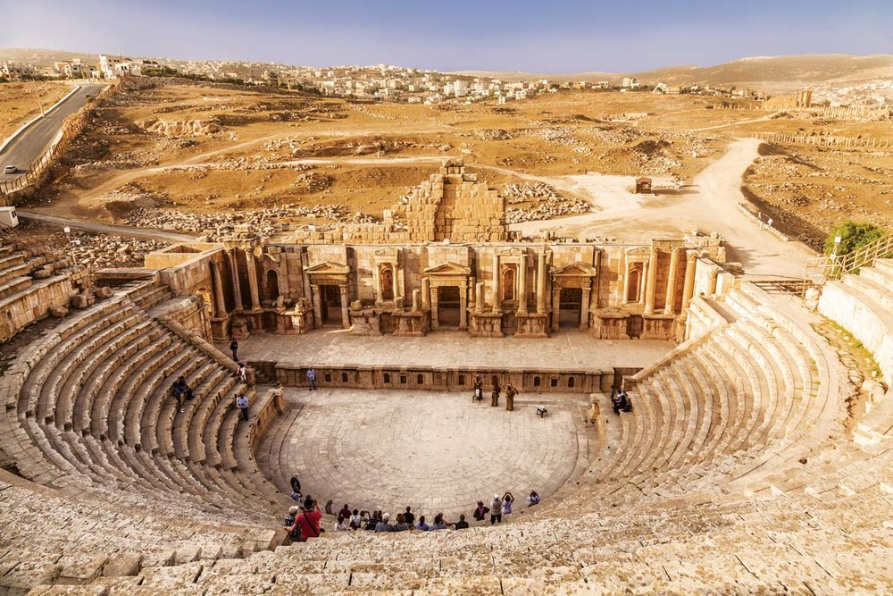The south amphitheatre of Jerash is still used for concerts and events today. volkova natalia / Shutterstock.