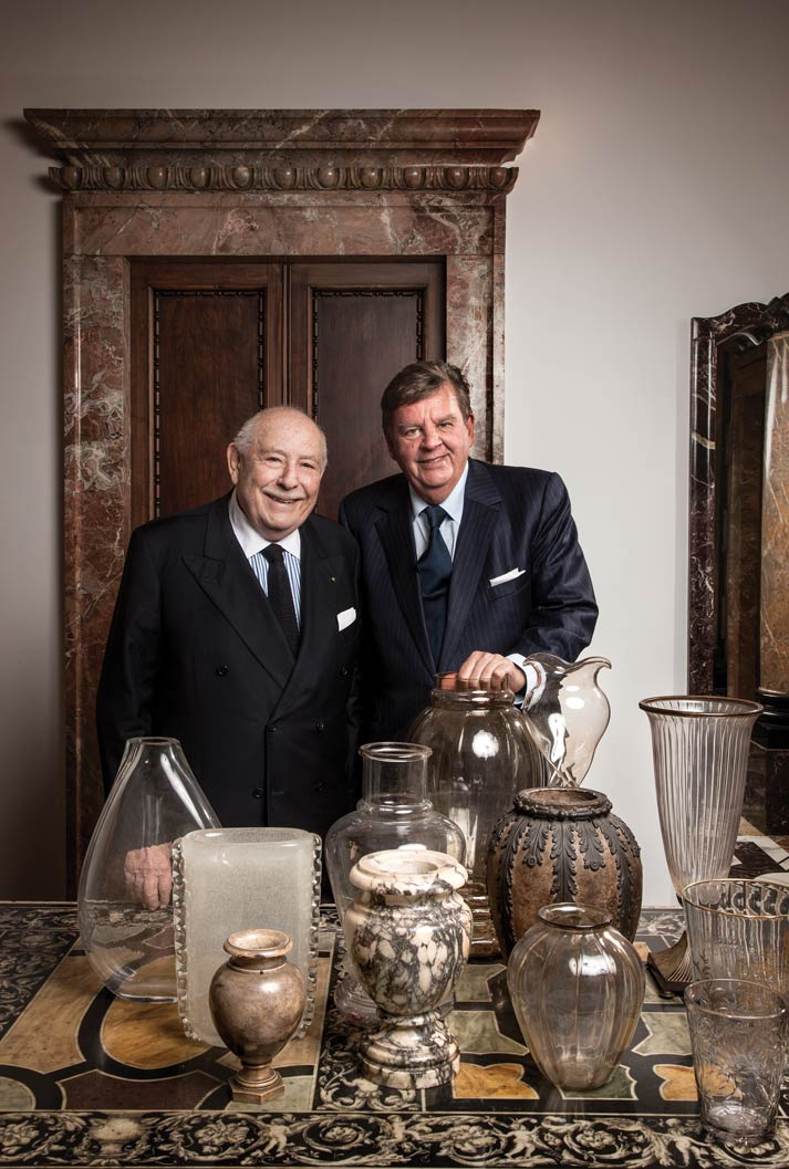 Cultural brothers-in-arms Johann Rupert and Dr. Franco Cologni, founders of the Michelangelo Foundation for Creativity and Craftsmanship.Photo courtesy of Michelangelo Foundation. Photography by Laila Pozzo