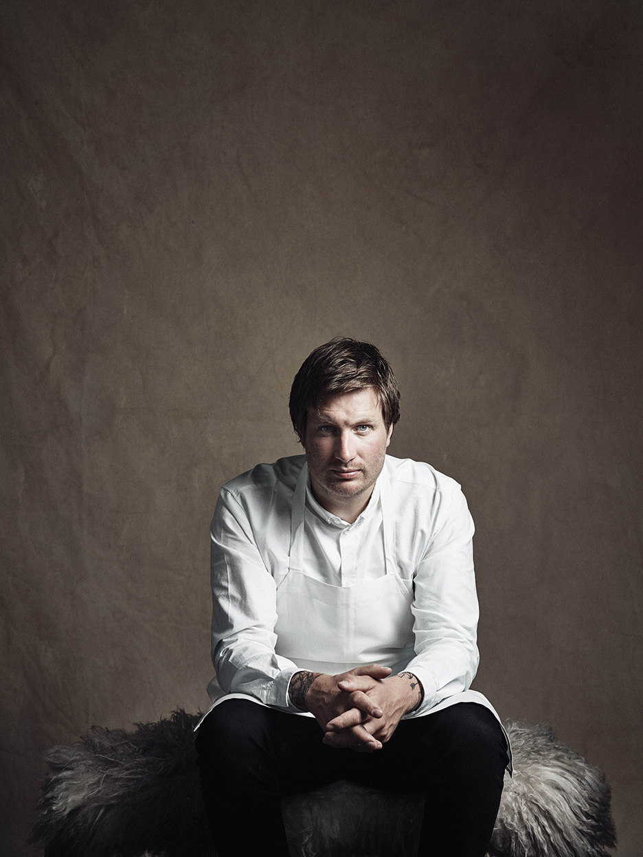 Maaemo's executive chef, Esben Holmboe Bang. His new Norwegian cuisine has garnered him three Michelin stars, and his cooking draws heavily on organic produce from small regional farmers in Norway.Photography by Tuukka Koski