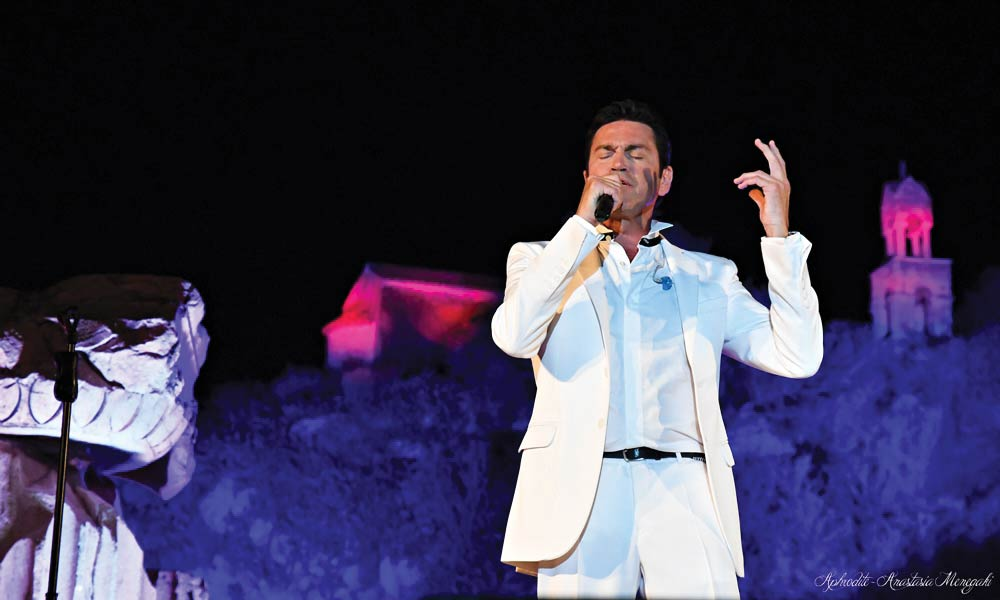 Frangoulis' top notch teachers as well as his varied cultural background have shaped him into the successful singer he is today.
