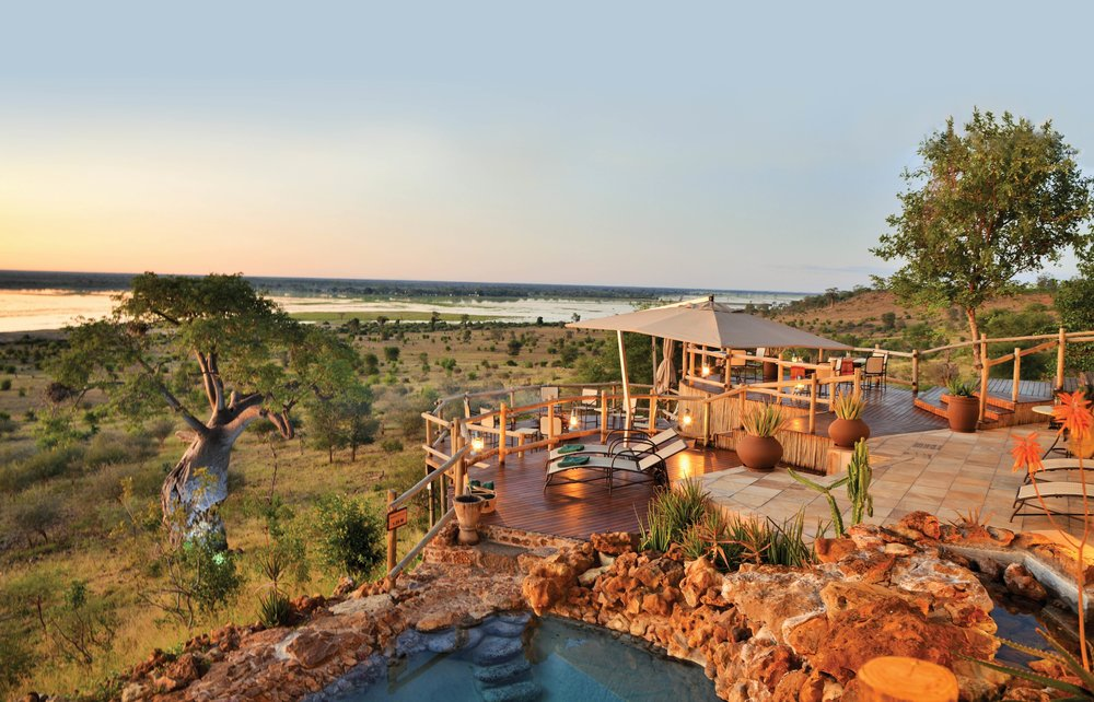 Bordering Chobe National Park, Ngoma Safari Lodge offers staggering views of the Chobe River floodplain, where huge herds of elephants and other wildlife roam. Photo courtesy of Ngoma Safari