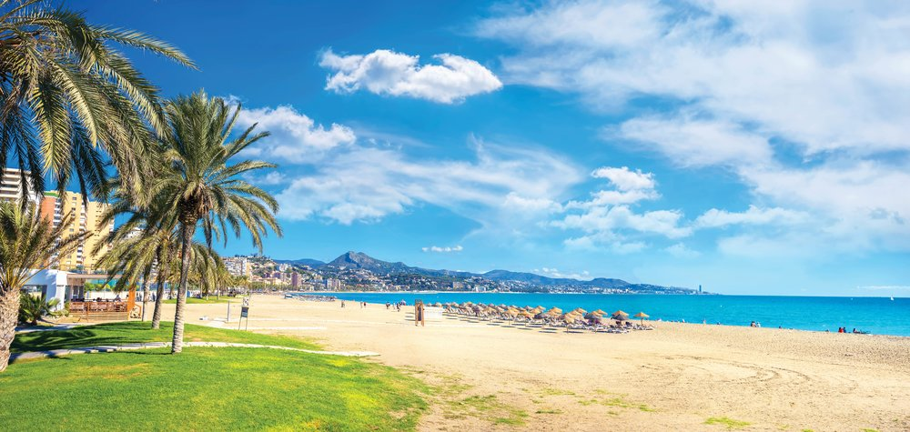The beach of Malagueta is one of the most popular on the Costa del Sol.Valery Bareta / Shutterstock.com