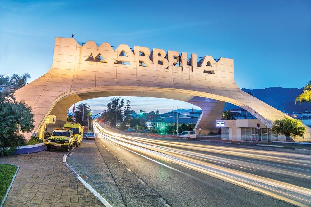 The namesake bridge welcomes travellers to Marbella.Sergey Dzyuba / Shutterstock.com;