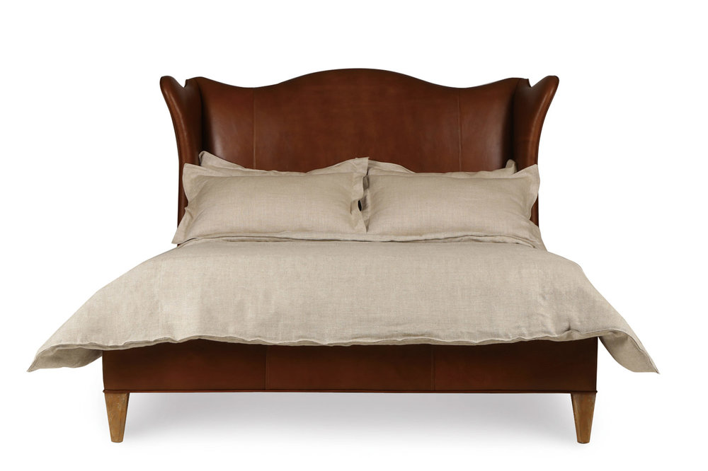 Century Furniture Hannah Leather Wing Bed, $6,495