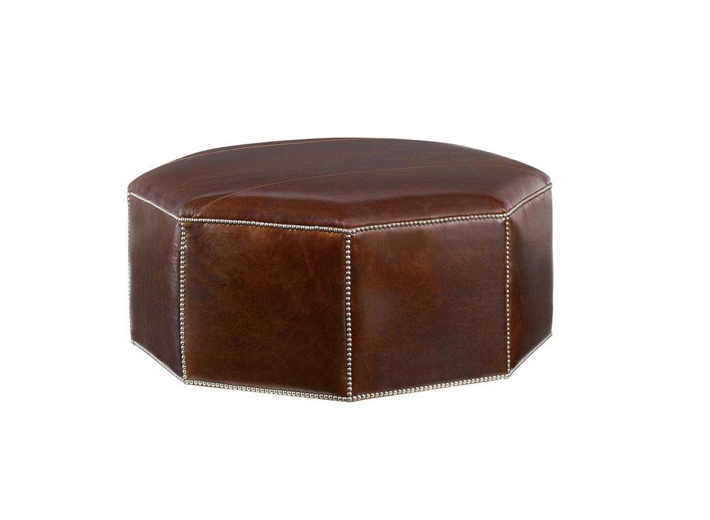 Century Furniture Cole Leather Ottoman, $1,495