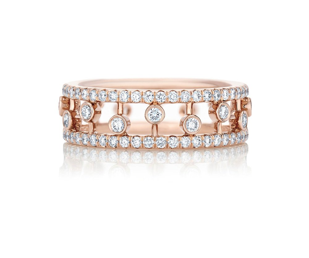 Dewdrop Rose Gold Band by De Beers