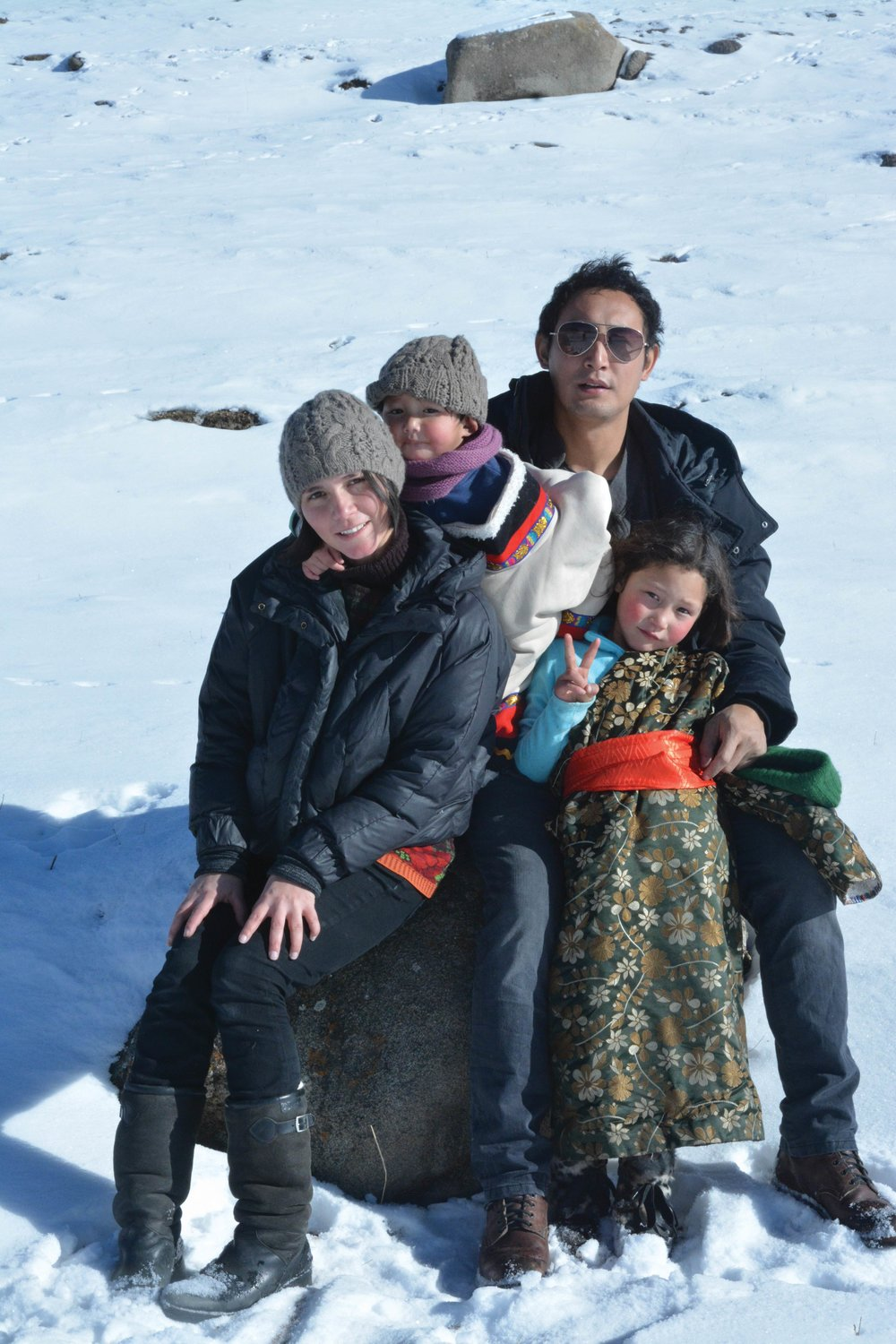 Yeshi with her husband and children.