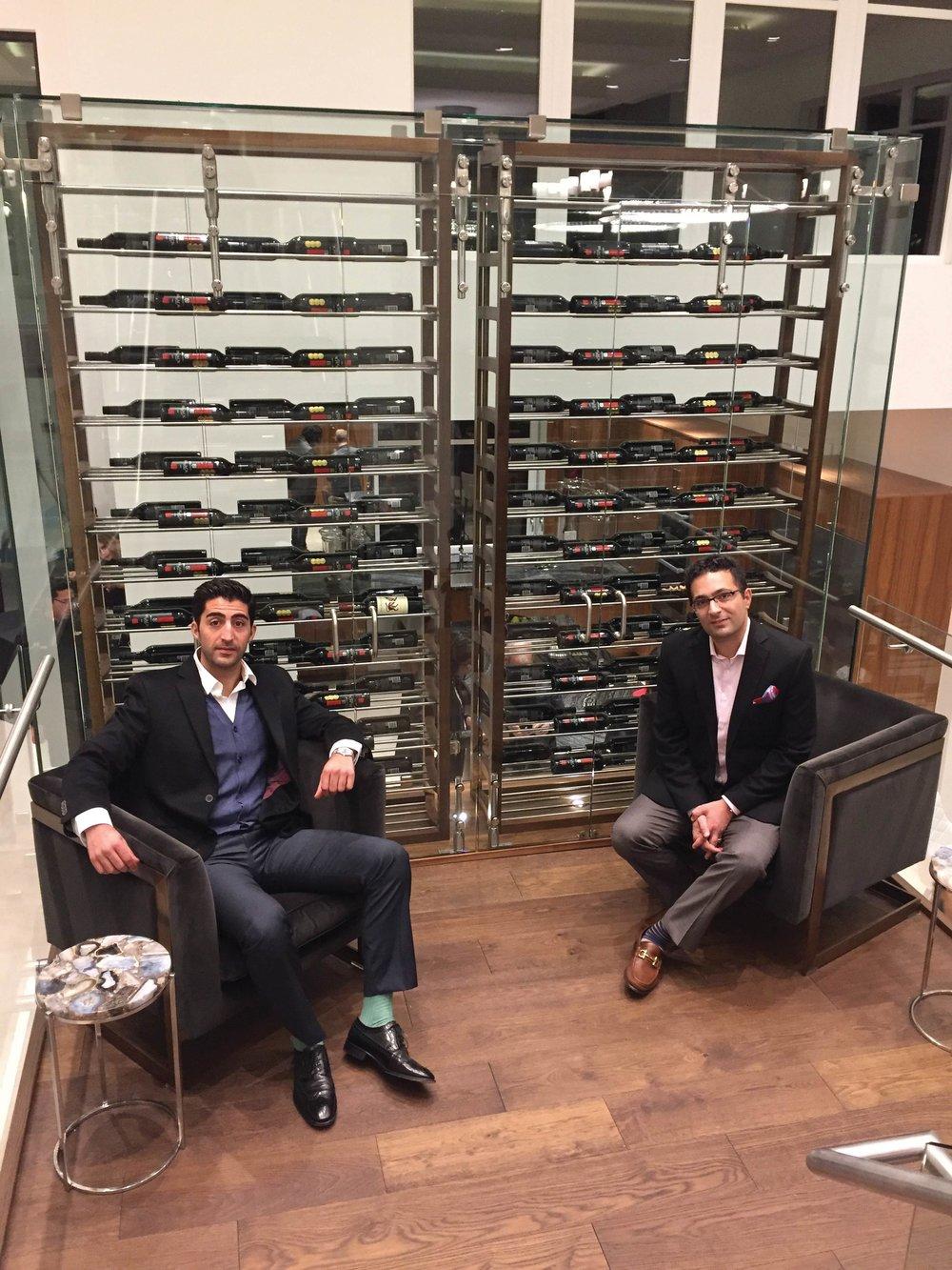 Farnood and Kia Ghaffari enjoy the ambiance of a tasteful, inspiring event;