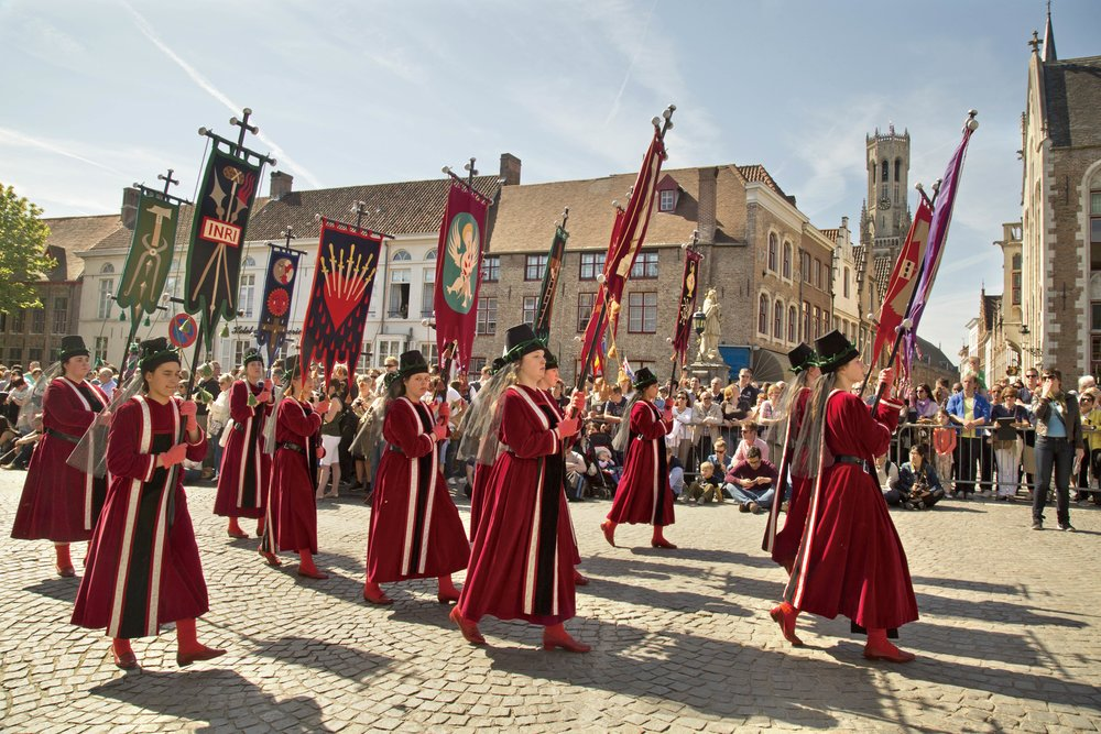 The annual Procession of the Holy Blood dates back to the 13th century.  DR Travel Photo and Video / Shutterstock.com;