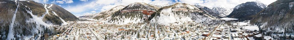 Panoramic view of Telluride town and mountain;SEASTOCK / Shutterstock.comk.com