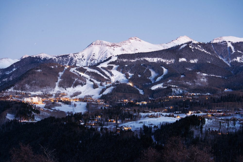 Mountain Village comes to life after the slopes of Telluride close for the day;Telluride Ski Resort