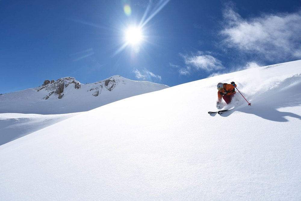 Wagner skis in action on the slopes of Telluride;