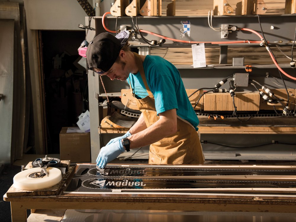 Wagner craftsmen construct bespoke skis.Wagner Skis