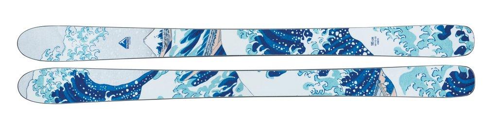Custom wood veneer skis;