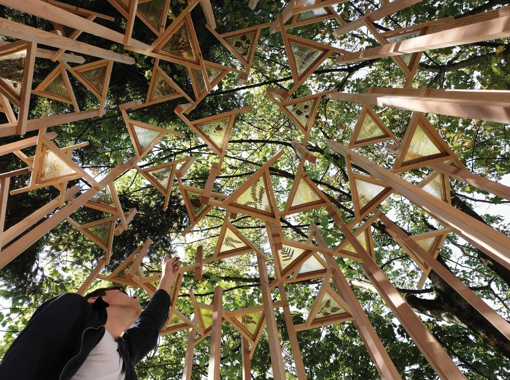 FSOARK's Eyepiece, the pavilion designed for the Britannia Sukkot Festival in partnership with the Jewish Museum and Archives of BC, Grandview Woodland Food Connection, and the Britannia Community Centre.Photos Courtesy of f s o a r k