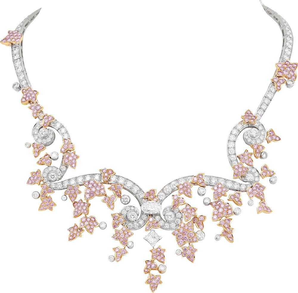 "18k White and Rose Gold ""Jardin des Délices"" Necklace Featuring Pink and White Diamonds by Van Cleef & Arpels"