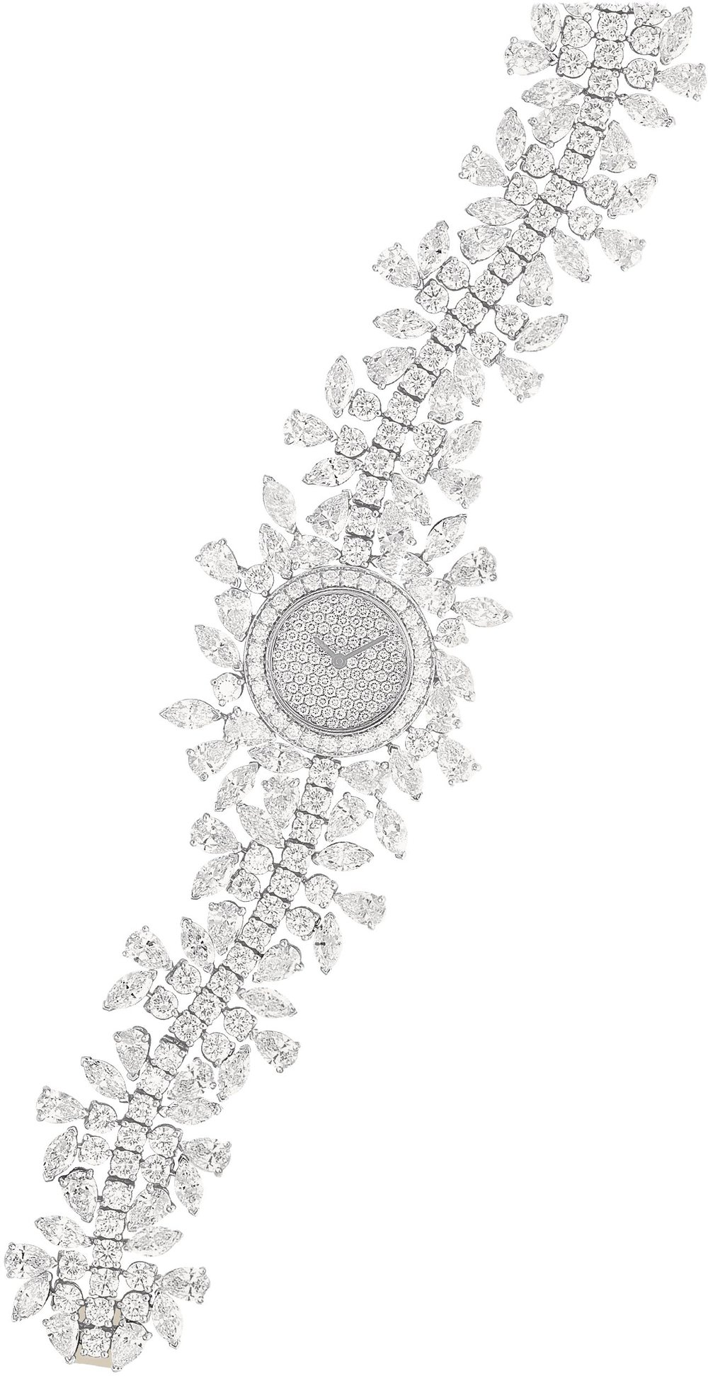 "18k White Gold ""Farandole"" Timepiece Featuring Diamonds by Van Cleef & Arpels"