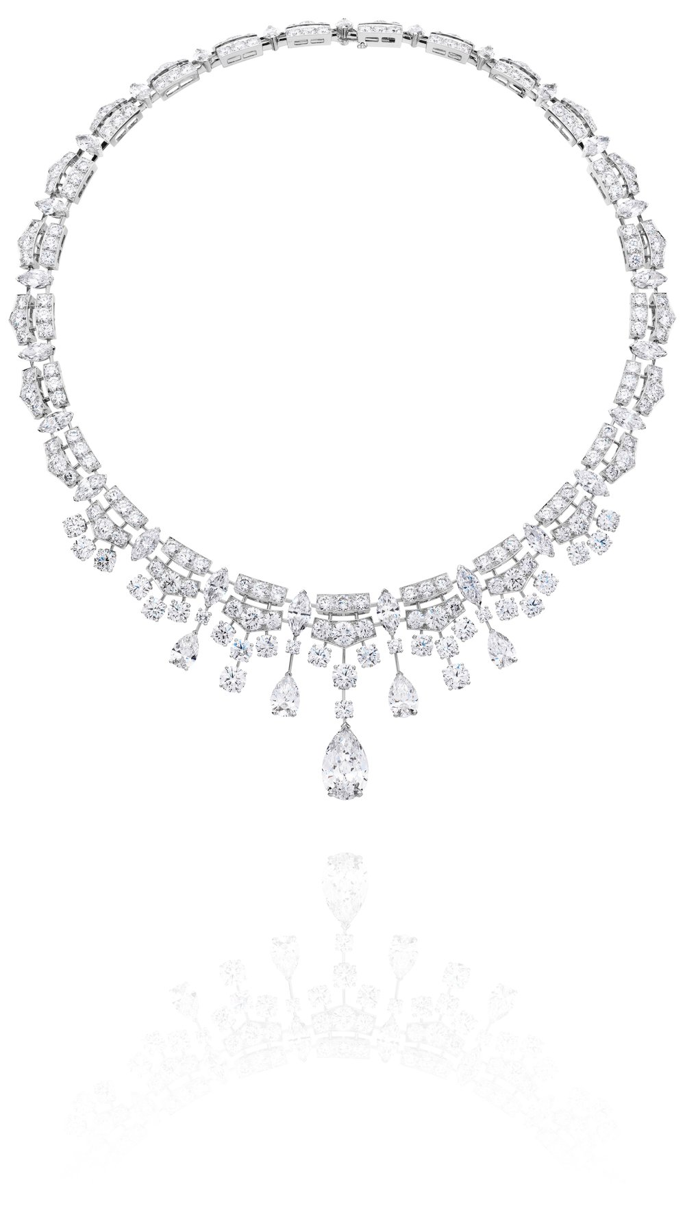 Phenomena Frost 64.13ct Including 5.0ct Centre Diamond Necklace by De Beers
