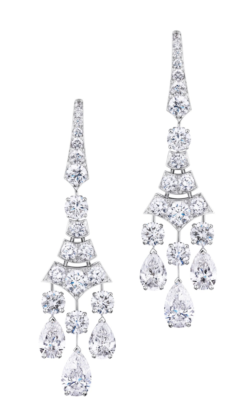 Phenomena Frost 10.15ct Including Two 1.0ct Pear-Cut Diamond Earrings by De Beers