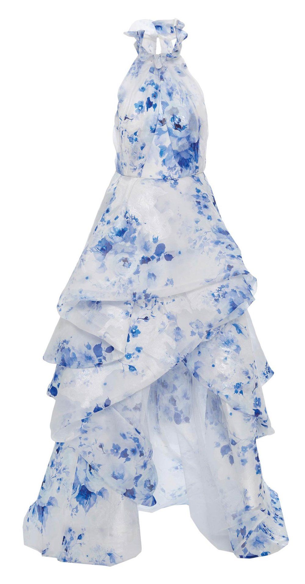 Print Organza Jacquard Gown by Monique Lhuillier