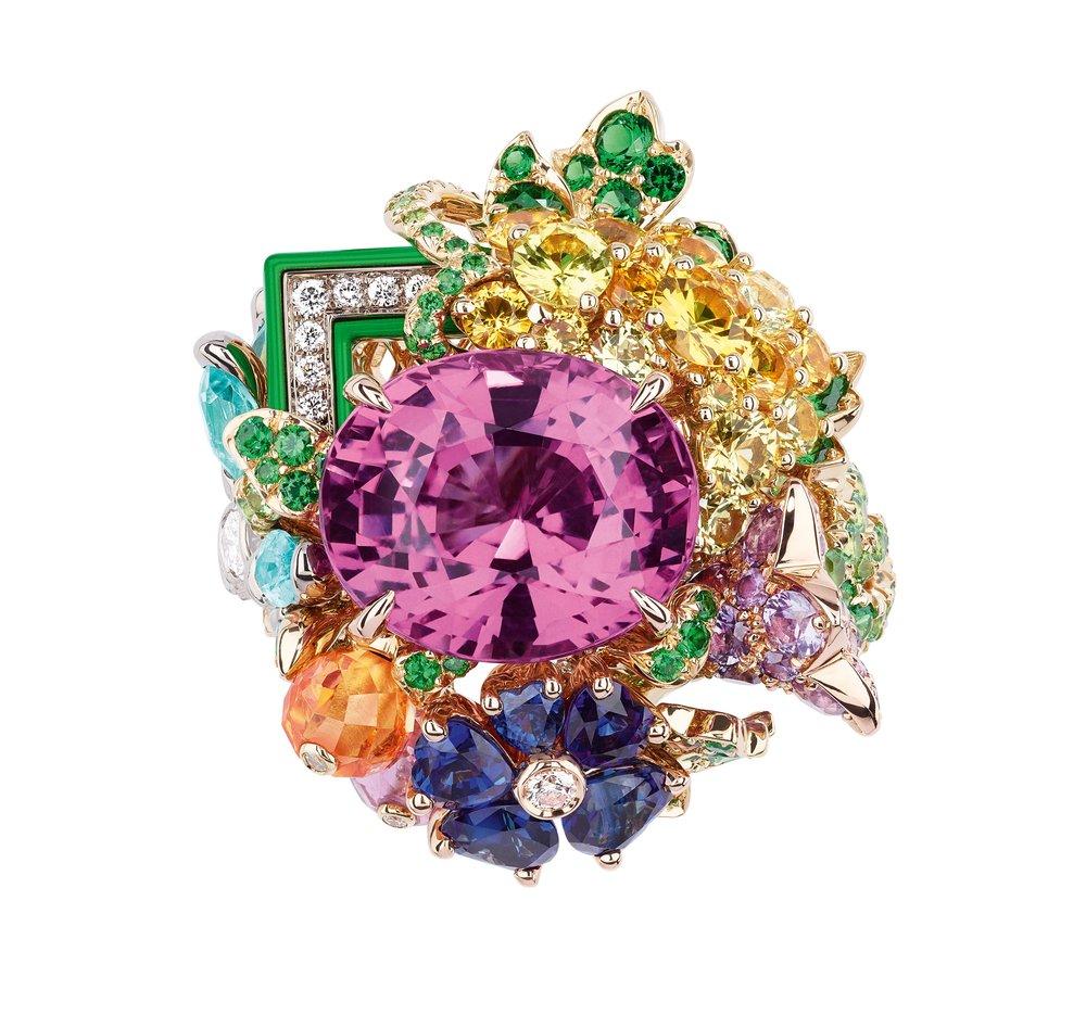 Hameau de la Reine Saphir Rose Ring