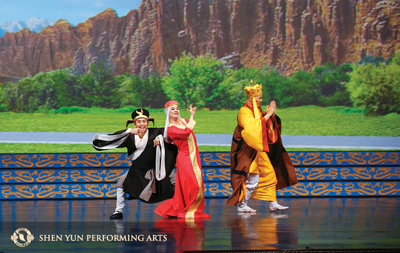 In The Monkey King Thwarts the Evil Toad, Lobjois plays a princess of ancient Chinese legend who is abducted by an evil toad that transforms into a likeness of the princess to fool the court and wreak havoc.(c) copyright by Shen Yun Performing Arts