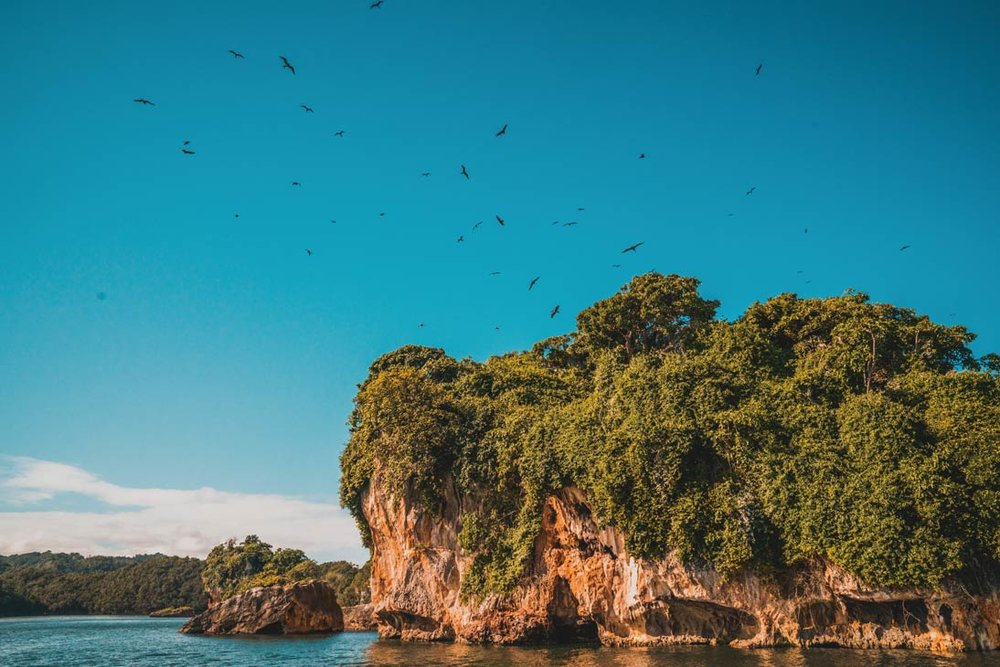 The hills of Los Haitises National Park can be explored on the remote northeast coast of the Dominican Republic.Photography by Nick Argires