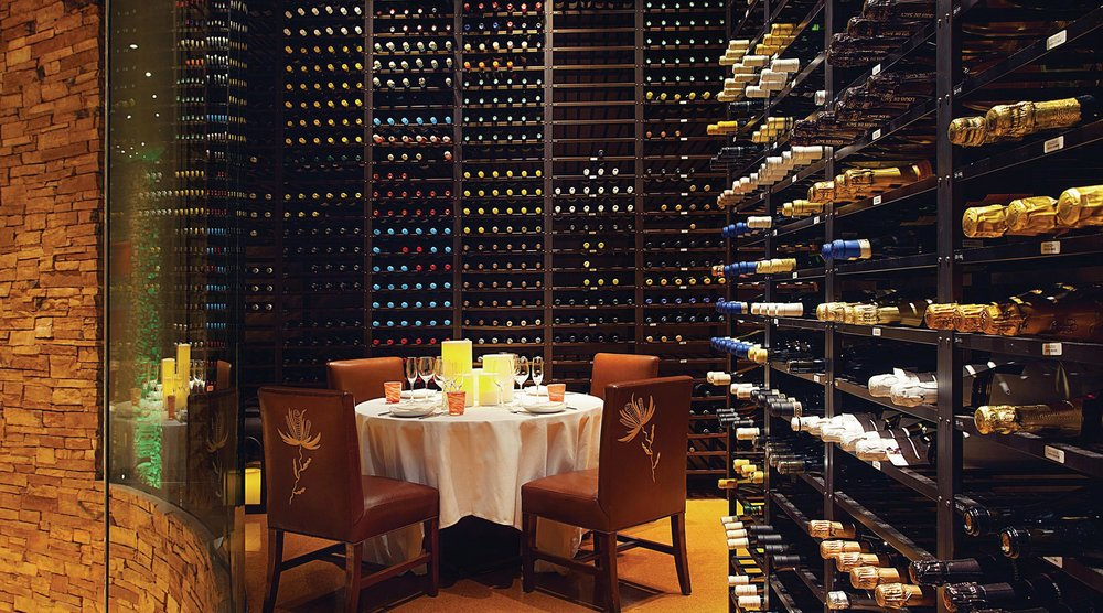 A special dining experience can be reserved on the upper floor of Fleur, in the vast, multi-level wine-storage area. Photos Courtesy of Mandalay Bay