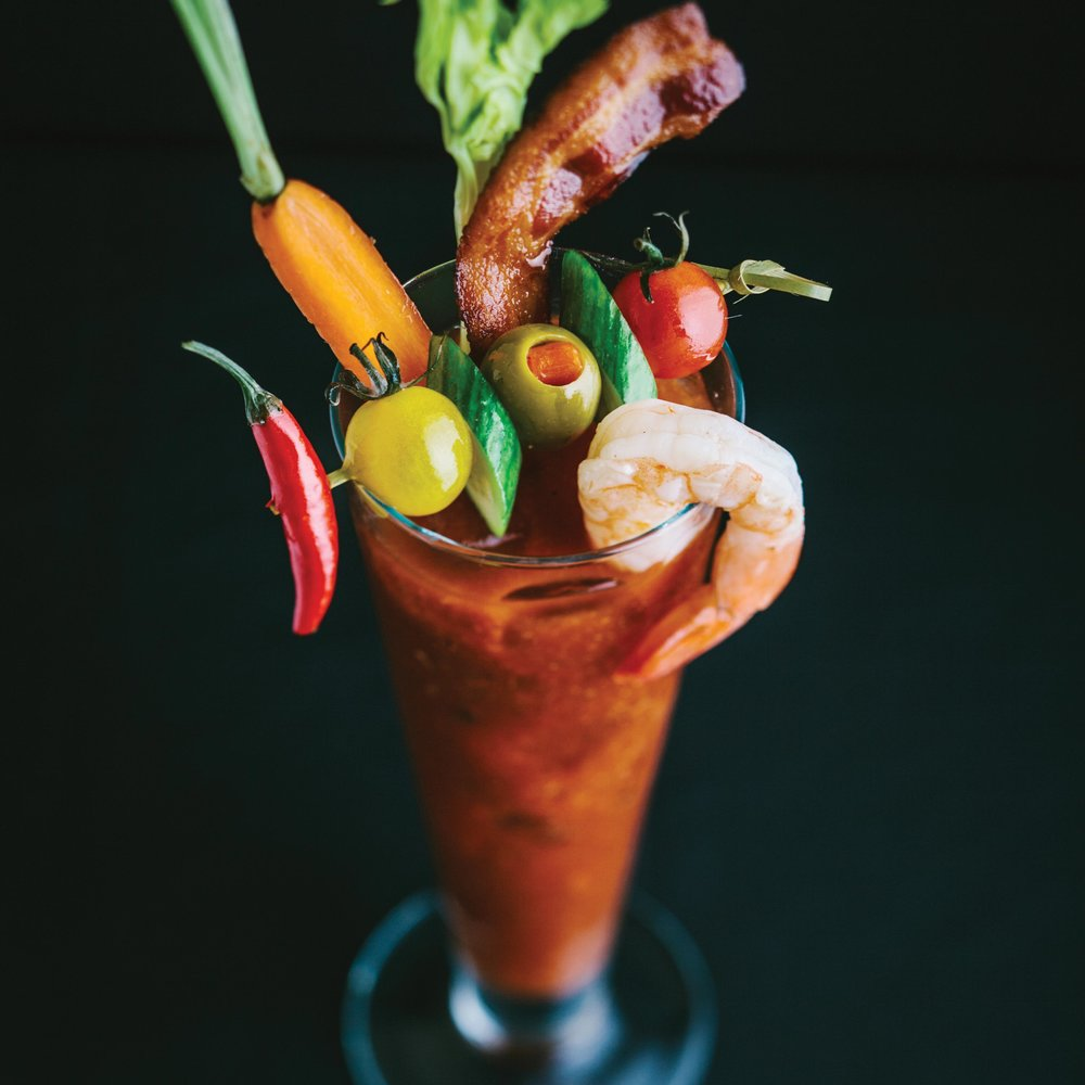 The Fleur bloody mary is a libation created from bacon-infused vodka and tomato juice with additions of cooked pieces of bacon, shrimp, carrots, olives and peppers. This bloody mary almost becomes a meal as well as a drink.Photos Courtesy of Mandalay Bay