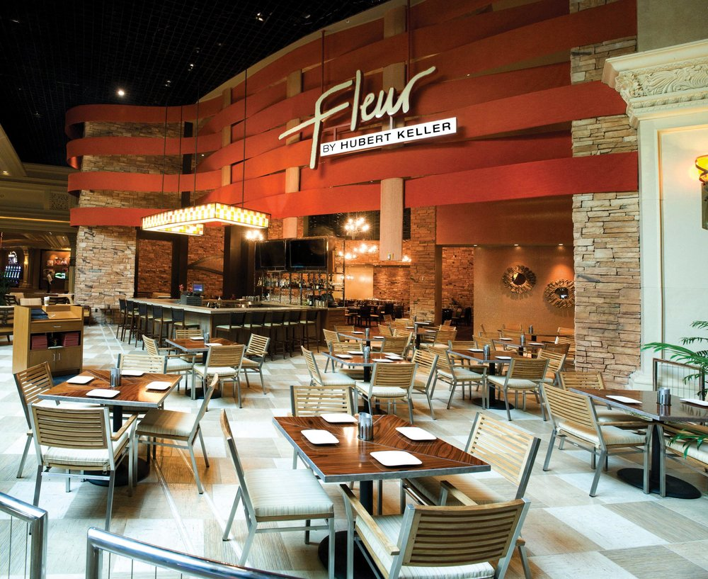 The exterior of Fleur, at Mandalay Bay in Las Vegas. Fleur offers small plates with casual seating at the bar, lounge, and patio as well as a more intimate experience in the dining room.Photos Courtesy of Mandalay Bay
