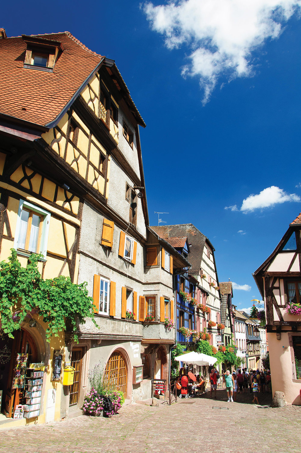 Ribeauvillé, Chef Keller's birthplace, one of the oldest medieval towns in the Alsace region of France, in existence since the 9th century.Oliver S / Shutterstock.com
