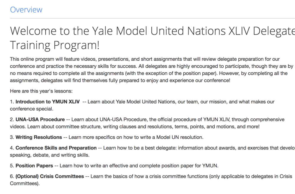 YMUN XLV Delegate Training - Please